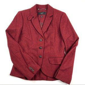 Weekend MaxMara Brick Red Wool Blazer, 8